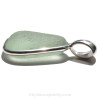 The side view of this sea glass jewelry piece shows you the thickness of the glass and quality of the sterling work.