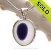 Purple Fisheye- ULTRA RARE Flashed Vivid Purple Multi Sea Glass Pendant In Deluxe Wire Bezel Setting©