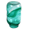 An Example of a late 1800's Victorian Era Hartley Wood Streaky Vase that is the verified source of this amazing and colorful sea glass from England.