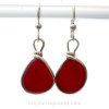 This is the EXACT pair of Genuine Red Sea Glass Earrings that you will receive!