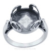 The Dome ring setting incorporates the sea glass into jewelry without altering the glass.