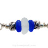 A detail of this Sea Glass Bracelet showing the lovely color in the English Sea Glass piece