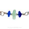 Summer Loving - Genuine Sea Glass Premium Bangle Bracelet In Solid Sterling