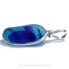 A side view shows you the thickness of the pendant. AVAILABLE - This is the EXACT Rare Sea Glass Pendant you will receive!