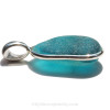 The side view shows you the thickness of the sea glass in this jewelry piece and the large solid sterling bail.