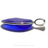 Big Blue - P-E-R-F-E-C-T and H-U-G-E Cobalt Blue Sea Glass Bottle Bottom In Sterling Silver Deluxe Wire Bezel© Setting