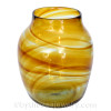 These sea glass pieces possibly originated as a Hartely and Wood Art Glass Vase
