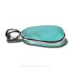 Soft Aqua Genuine Sea Glass Pendant In Sterling Silver Deluxe Wire Bezel Setting©
