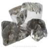Genuine Pure White Aqua Sea Glass Sterling Premium Bangle Bracelet With Lampwork Glass Wave Bead