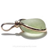 A side view to show you the thickness of the sea glass in this pendant.