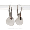Thicker Surf Tumbled Pure White Sea Glass Earrings On Sterling Silver Leverbacks