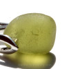From a close up view, you can see the telltale c's that let you know this is real genuine beach found sea glass.