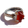 A chunky piece of Genuine Sea Glass in a very rare mixed red color.