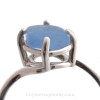 Brilliant Bright Cobalt Blue Sea Glass In Sterling Ring