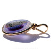 Side view of this amazing sea glass pendant our Original Wire Bezel setting lets all the light pass through.