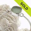Seafoam Green Fine Set Sea Glass Bangle Bracelet