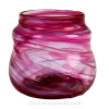 An example of a streaky glass vase by Hartley Wood house in Sunderland.