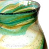 An example of a Mixed Green and Yellow Hartley Wood Glass Vase, the Verified source of this amazing and colorful sea glass from Seaham England.