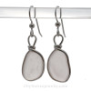 Peach Blush - Lightweight Genuine Peach Depression Era Genuine Sea Glass Earrings In Silver Original Wire©Bezel
