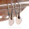 Petite Soft Peach Depression Era Beach Found Sea Glass Earrings on Sterling Silver  Leverback Earrings.