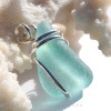 This setting leaves the sea glass piece UNALTERED from the way it was found on the beach yet it is a secure in an attractive setting. SOLD - Sorry this Sea Glass Pendant is NO LONGER AVAILABLE!
