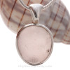 Cool Included Rose Sea Glass Pendant in our Deluxe Sterling Bezel Setting.