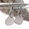 Lovely perfect pale purple sea glass on solid sterling silver deco earwires.