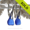 Simple and elegant these blue sea glass earrings are bound to get you compliments!