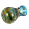 """An example of a Hartley & James """"Streaky Glass"""" vase the verified source of this amazing and colorful sea glass."""