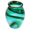 "An example of a Hartley & James ""Streaky Glass"" vase the verified source of this amazing and colorful sea glass."