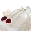 P-E-R-F-E-C-T Fine Set Genuine  RARE RED English Sea Glass Earrings In Sterling