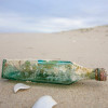 Aqua sea glass has a wide range of sources, mainly old bottles and jars.