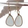 LargePalest Seafoam beach found Sea Glass Earrings set in our signature Original Wire Bezel© setting in gold.