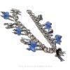 Into the Briny Blue- Brilliant Blue Genuine Sea Glass Charm Bracelet With Sealife Charms