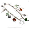 A great sea glass charm bracelet with plenty of room for future charms.