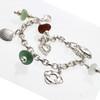Beach Life - Genuine Sea Glass All  Sterling Silver Charm Bracelet