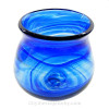An example of a Hartley & Wood Electric blue streaky vase, the verified source of this colorful and natural sea glass from England.