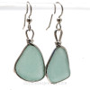 Perfect pieces of naturally collected VIVID aqua blue sea glass in our ORIGINAL Wire Bezel© setting in Silver.