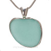 Phat Love - HUGE Aqua Blue Natural Sea Glass Heart In Deluxe Sterling Silver Bezel© Necklace Pendant