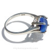 Genuine Mixed Blue Beach Found Seaham Sea Glass In Sterling Basket Ring - Size 8 (Re-Sizeable)