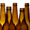 Most amber brown sea glass originates are beer bottles, drank on hot beaches and discarded into the sea.