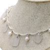 Lovely pieces of sea glass in a elegant necklace.