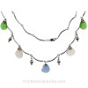 An elegant necklace with real sea glass.