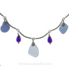 A detail of the necklace shows you the quality of the work and the beauty of the sea glass.