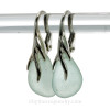 A stunning pair of real sea glass earrings.