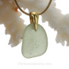 Simple fresh and lovely Seafoam Green Sea Glass on a 24K gold Vermeil bail and a 14K Goldfilled Necklace.