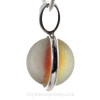 A side view shows you the perfection of the marble and the quality of the silver bezel work.
