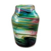 An example of an old Hartely Wood Streaky vase, the verified source of this amazing colorful sea glass.