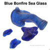Bonfire, trashfire or melties are pieces of sea glass that were first made molten in a fire at the beach. After melting and slumping, they were then smoothed by the sea. Very collectible specially in rare colors like blue.