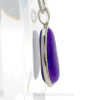 A side view shows you the thickness of the sea glass and the quality of the silver work.